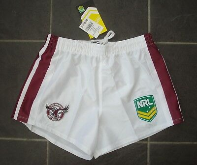 """Official BNWT Small 32"""" Manly Sea Eagles NRL Rugby League Shorts"""