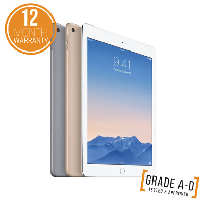 "Apple iPad Air 2 - 16GB 64GB 128GB - WiFi & Cellular - 9.7"" - Grade A-D/Colours"