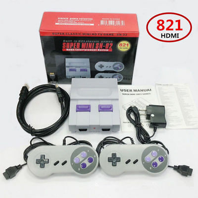 Mini Classic Console With HDMI Output - 821 Built-In Super Nintendo Games
