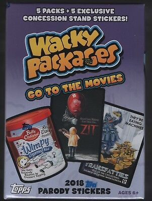 Stock 2018 Topps Wacky Paquetes Go To The Movies Precinto Fábrica Blaster Caja
