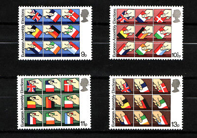 1979 GB,European Elections, NH Mint Set of Stamps, SG 1083-6