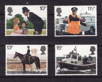 1979 GB, Police, NH Mint Set of Stamps, SG 1100-03