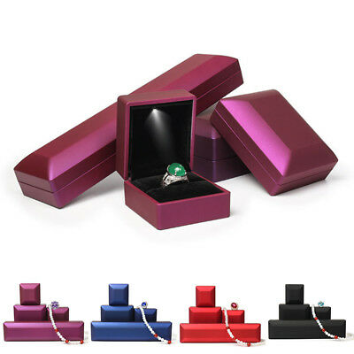 Jewelry box Earring Gift With LED Light Storage Xmas Ring Engagement Display