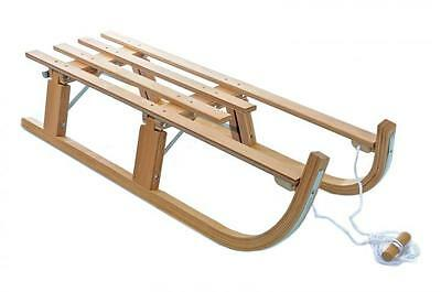 Large Traditional Wooden Folding Kids Sledge 110Cm Toboggan Sleigh New Rrp£79.99