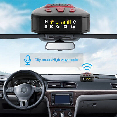 M8 Car Full Band Scanning Voice Alert Warning Speed Control Radar Detector New