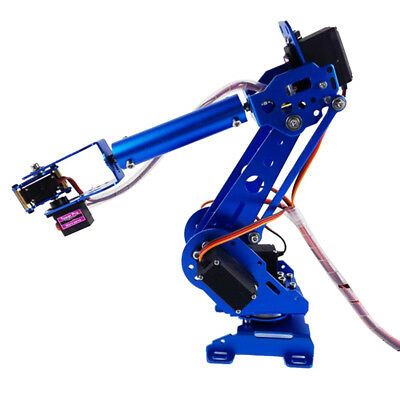Metal 6DOF Robot Mechanical Arm Kit MG-996R MG-90s Servo For Arduino Blue