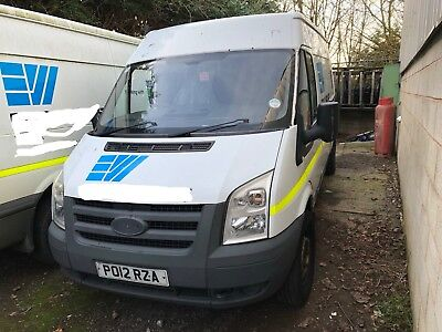 2012 Ford Transit 115 T350 Rwd Lwb Hi-Top No Vat To Pay Salvage Spares Or Repair