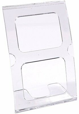 Source One LLC 4 x 6 Inches Clear Curved High Impact Sign Holder (14X6CURV)