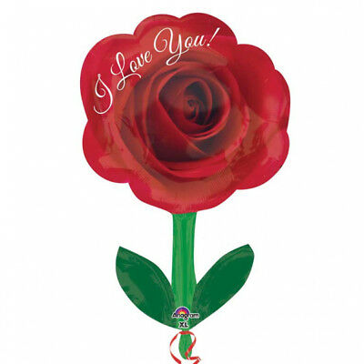 I Love You Red Rose Valentine Foil Balloon - St Valentines Day Decoration -31847