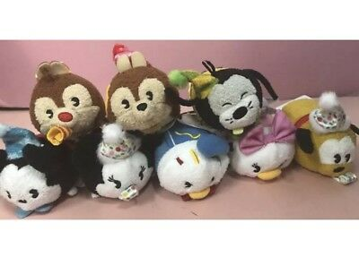 "Disney Parks Mouse Party Mickey's 90th Birthday Tsum Tsum Set Of 8 Plush 3"" NWT"