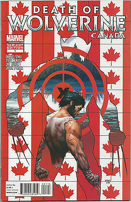 Death Of Wolverine #1 Canada Variant Near Mint First Print Bagged And Boarded