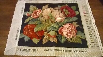 Completed Tapestry Of  Roses Called Rectangular Roses