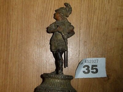 Small Antique Spelter Warrior Figure