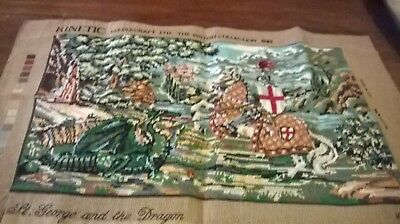 Large  Completed Tapestry Of St George And The Dragon British Collection