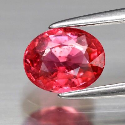 CERTIFICATE Inc.*0.98ct 6.7x5.4mm Oval Natural Purple Pink Spinel