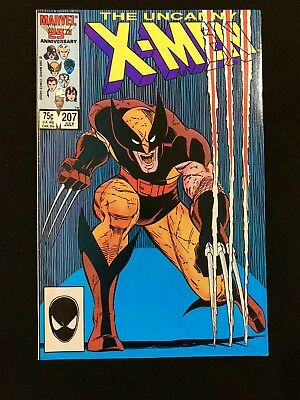 X-Men 207  1986,  Nice High Grade!  Great Wolverine Cover!