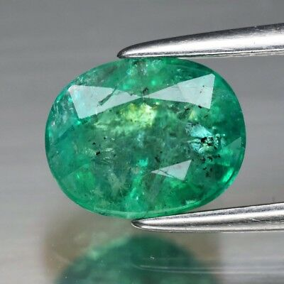 RARE! CERTIFICATE Inc.*1.62ct 8x6.4mm Oval Natural Green Emerald, Ethiopia