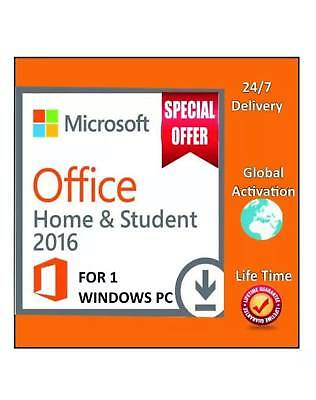 Microsoft Office 2016 Home & Student Product License Key Digital Delivery