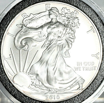 2010 American Silver Eagle $1 Dollar Coin Uncirculated .999 Fine Silver