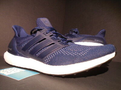 b13454c79 2015 Adidas Ultra Boost M 1.0 Collegiate Navy Blue Silver White Black  S77415 11