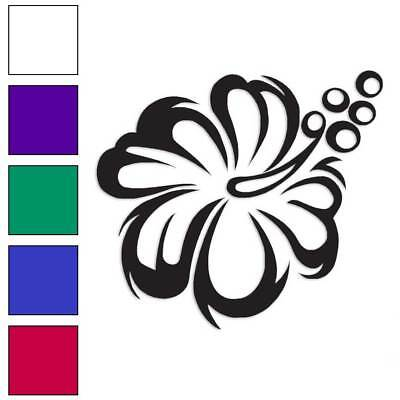 Hawaiian Flower Hibiscus Decal Sticker Choose Color + Size #356