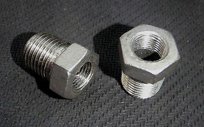 """STAINLESS STEEL BUSHING REDUCER 1/4"""" x 1/8"""" NPT PIPE BS-025-012"""