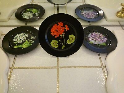 Tiffany & Co. Mrs. Delany's Flowers China 3 pieces, dessertteller