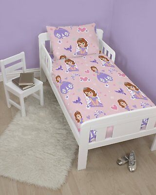 Disney Sofia The First Academy Cot Bed, Junior Bed, Toddler Bed Duvet Cover Set