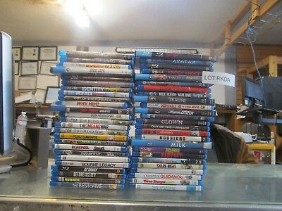 50 -- Blu-ray mixed dvd movie Collection ---- FREE US SHIPPING      (LOT RKOA)