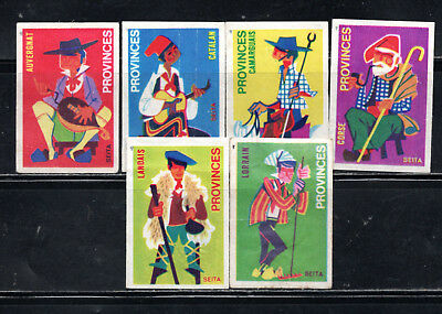 French Provinces  Matchbox Labels  Matt  -  T Top Left