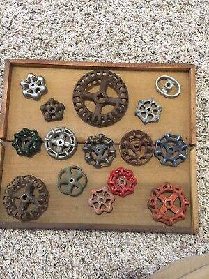 15 Vintage Water Valve Faucet Handles Knobs Steampunk Lot B