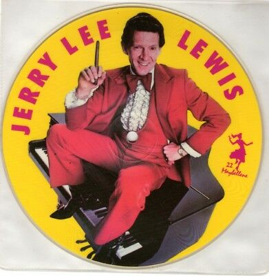 "JERRY LEE LEWIS 7"" Picture Disc - Great Balls of fire MAYBELLENE 1987 Collectors"