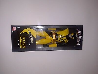 Power Rangers Super Ninja Steel Toys Yellow Ranger 12In Action Hero Figure Gift