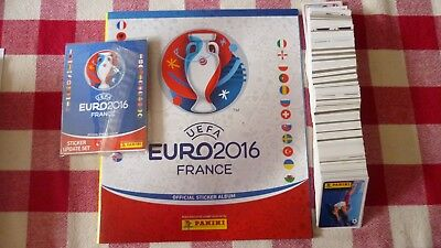Panini Album Blanc Football Vide + Set Complet + Update Euro 2016 France
