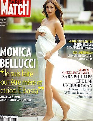 MONICA BELLUCCI FRENCH Paris Match Magazine 8/4/11 BAREFOOT PC