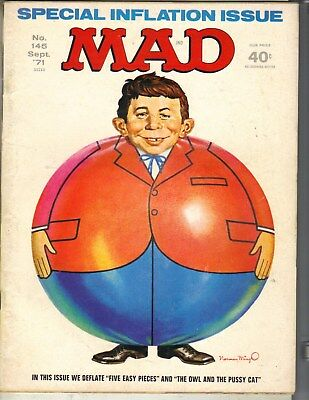MAD Magazine September 1971 #145 INFLATION ISSUE