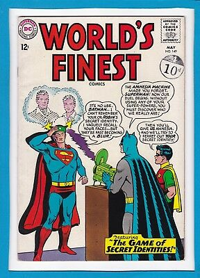 World's Finest #149_May 1965_Very Fine Minus_Superman_Batman_Silver Age Dc!