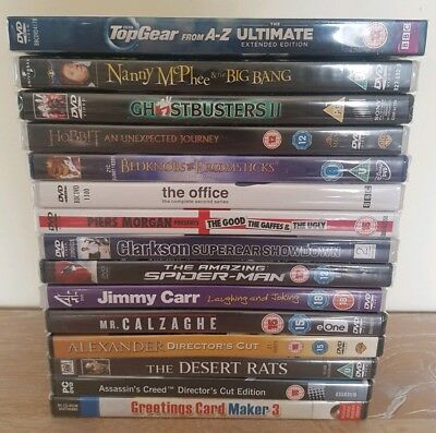 DVD Bundle Job Lot x15 Comedy Drama Horror Action Science P.C All New Sealed