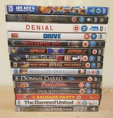 DVD Bundle Job Lot x15 Cartoon Drama Horror Action Science All New Sealed Joblot