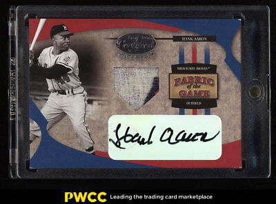 2005 Leaf Certified Fabric Of The Game Hank Aaron AUTO PATCH 1/1 #FG-53 (PWCC)