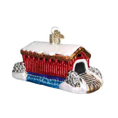 """Covered Bridge"" (20036)X Old World Christmas Ornament w/ OWC Bx"