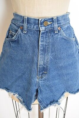 vintage 70s shorts LEE denim cutoff distressed high waisted jean shorts XS