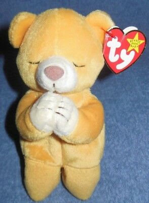 Ty Beanie Babies Hope the Praying Bear MWMT DOB March 23 1a89f9a30851