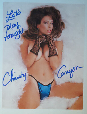 CHRISTY CANYON SIGNED 8x10 PHOTO w/ PIC PROOF! LOT L