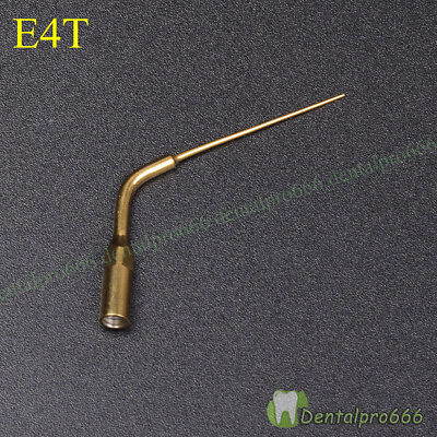 NEW Dental Ultrasonic Endo Perio Scaling Tips SS # E4T For EMS Handpiece Golden