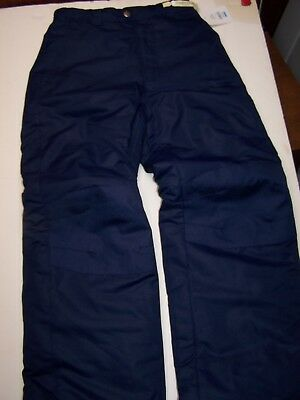 Faded Glory Kid Boy or Girl Ski Snow Pant NAVY Size L 10-12 Large Snowboard