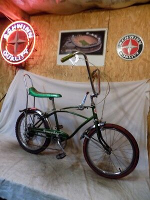 1960s ROLLFAST SMOOTHIE BANANA SEAT MUSCLE BICYCLE GREEN SPYDER ELIMINATOR SKOOT