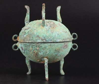 Rare Bronze Pendant Statue Incense Burner Old Xiangding Buddhist Collection