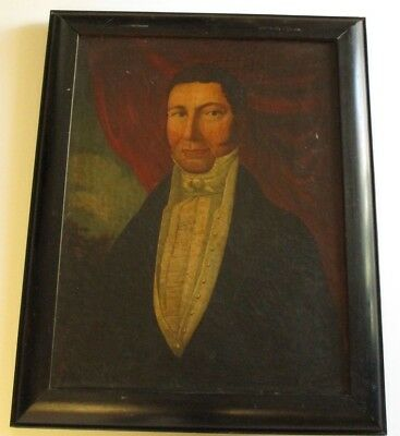 Antique Early 19Th Century American Portrait Painting Estate Heirloom Gentleman