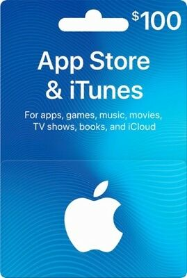 $100 Canadian Apple App Store Itunes Gift Card Music Movie App Tv $100